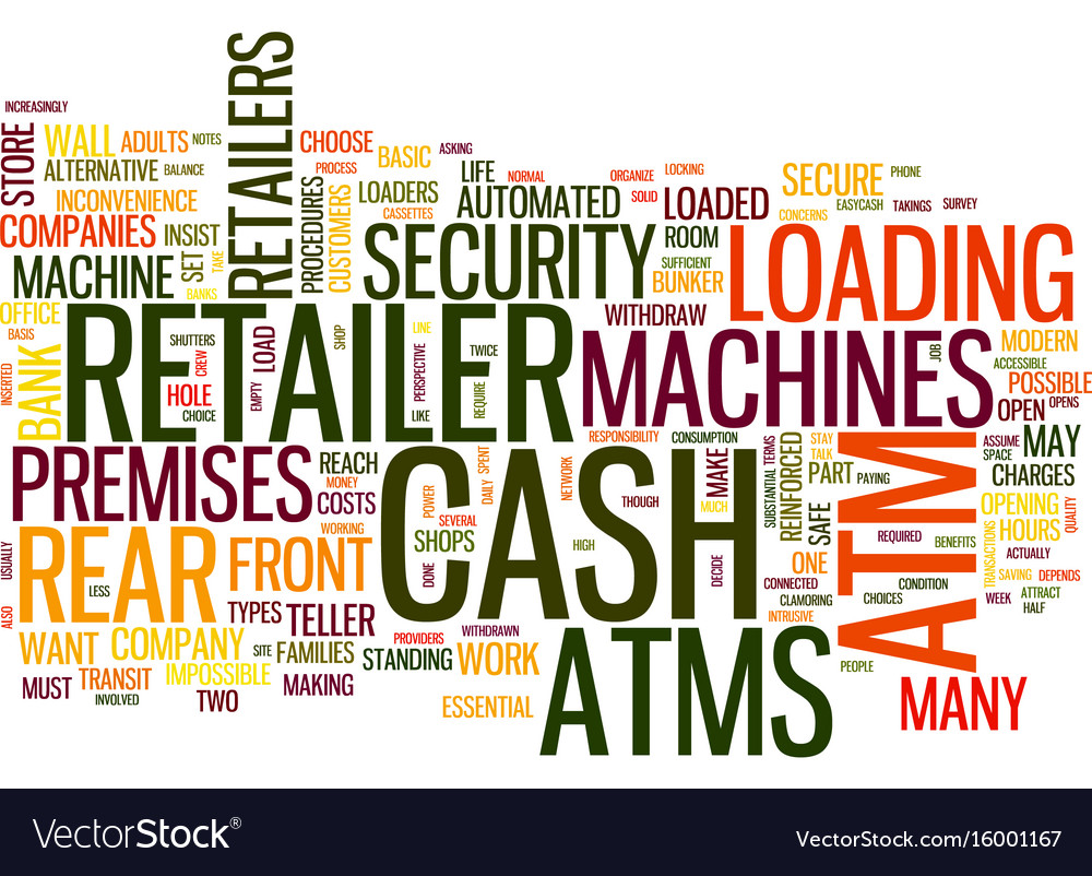 Atms how does the retailer decide text background vector image