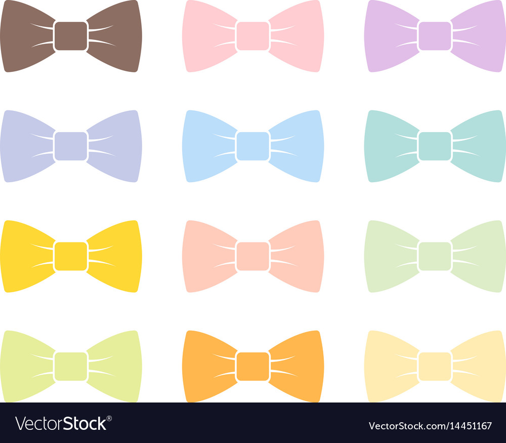 Colorful bow tie isolated bowtie accessory elegant