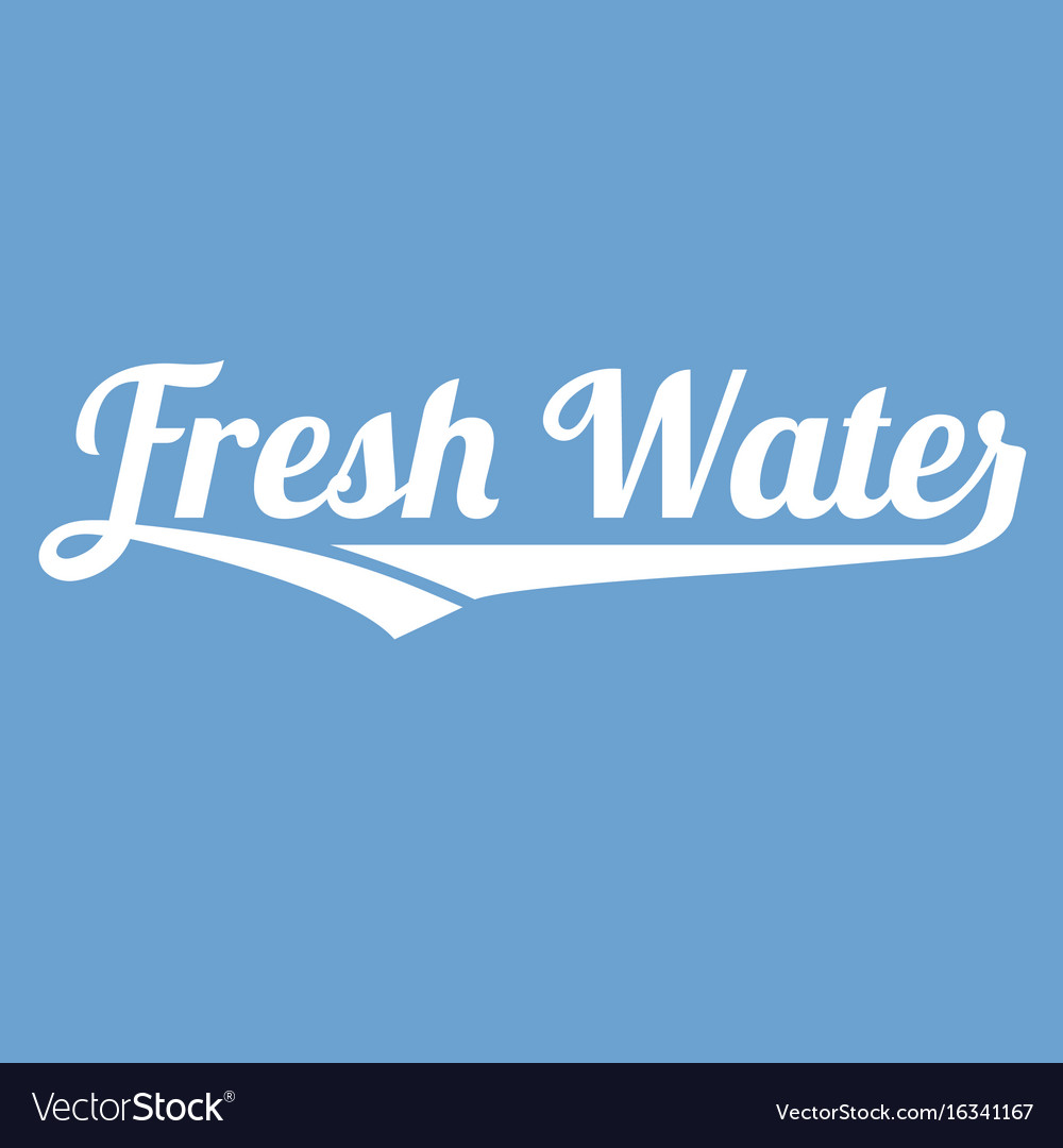 Fresh water alphabet with long tail vector image