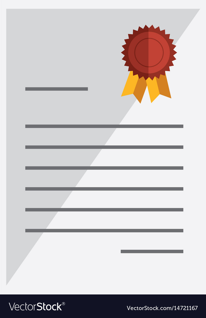 Graduation Certificated Isolated Icon Royalty Free Vector
