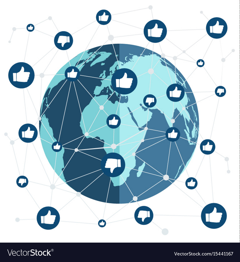 World connection with like and dislike