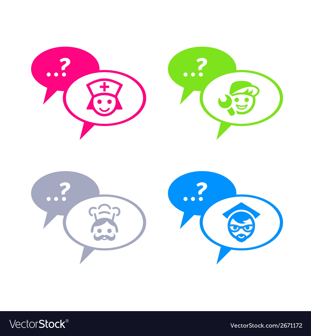 Chat with professionals vector image