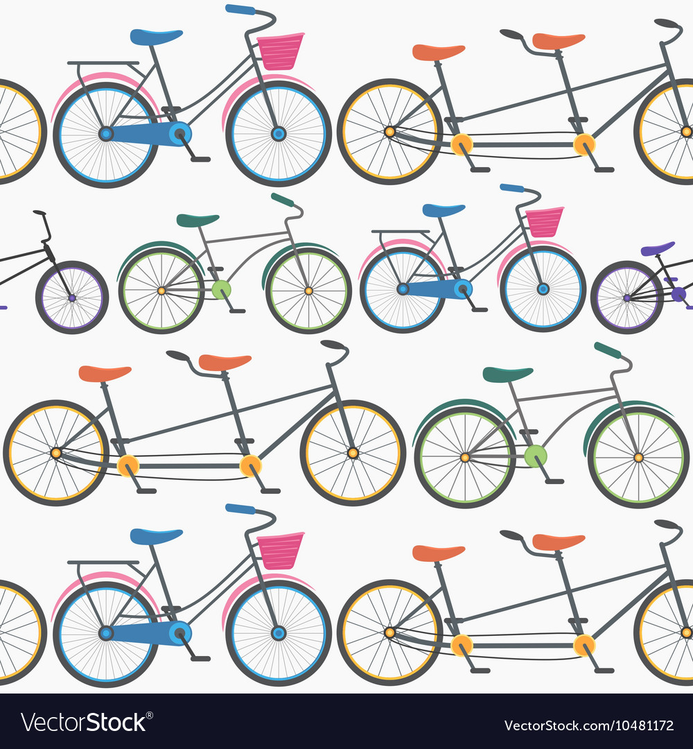 Colorful Bicycle Background Pattern