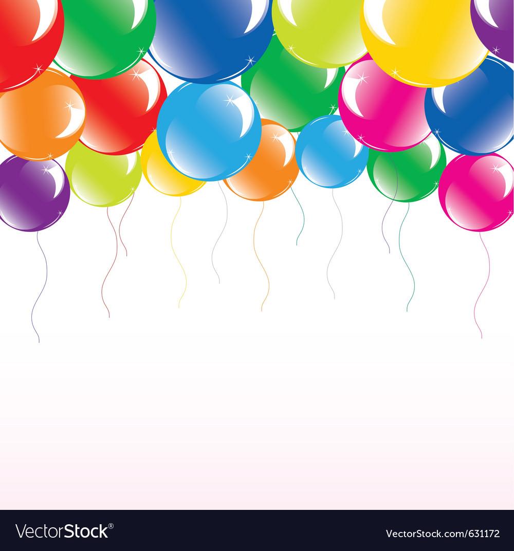 Festive colorful balloons
