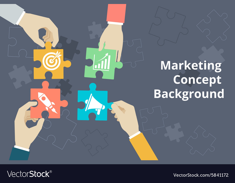 Marketing concept background in flat style