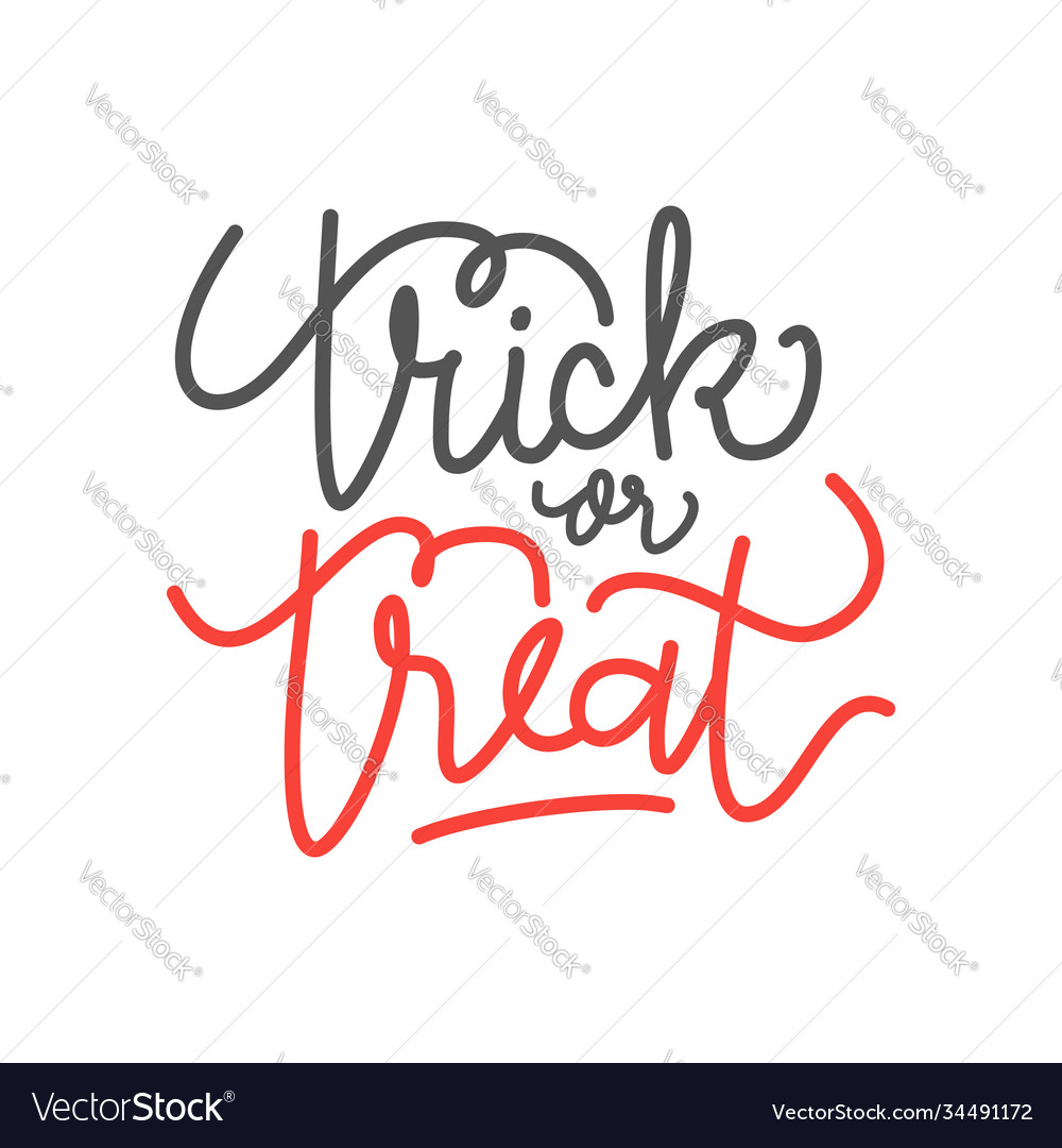 Poster with halloween slogan trick or treat