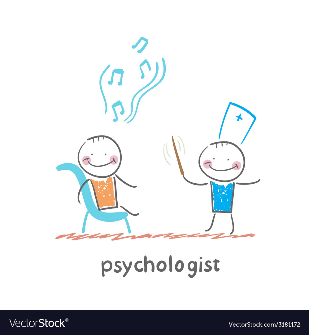 Psychologist conducts a patient tells notes