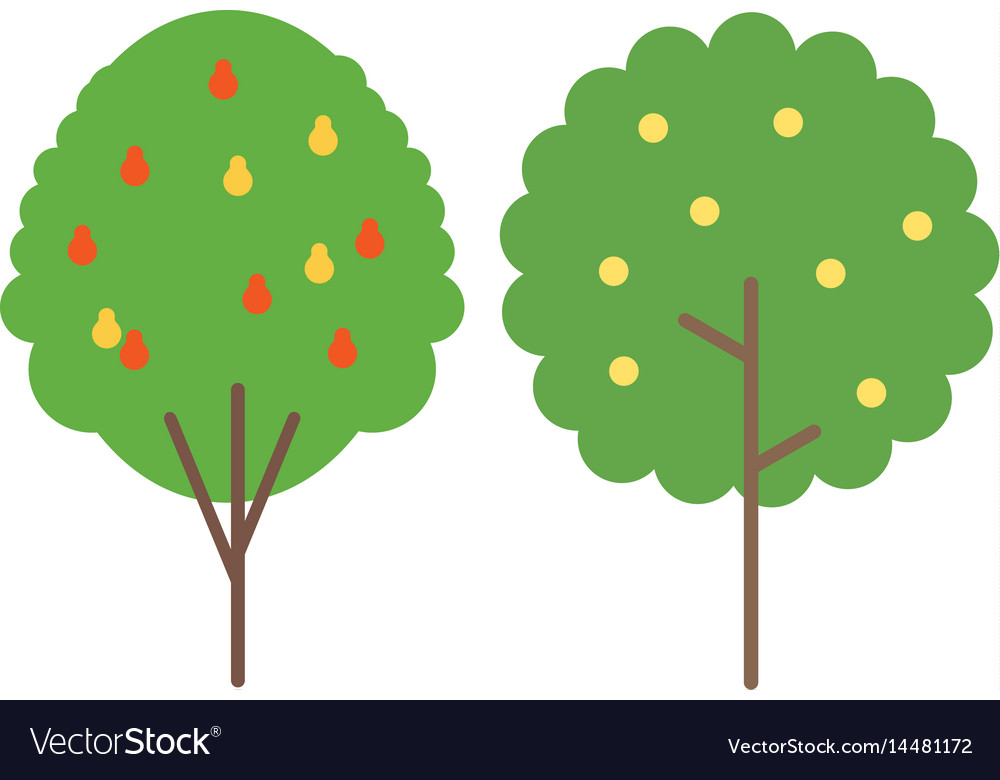 Trees in flat style