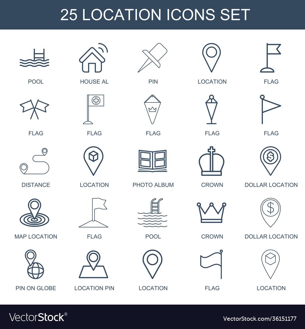 25 location icons