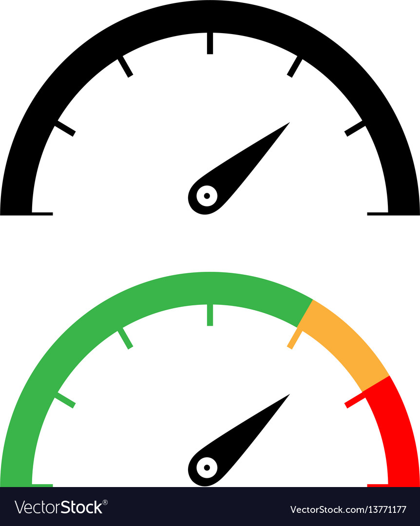 vector speedometer black and color speedometer icon royalty free vector image 5151