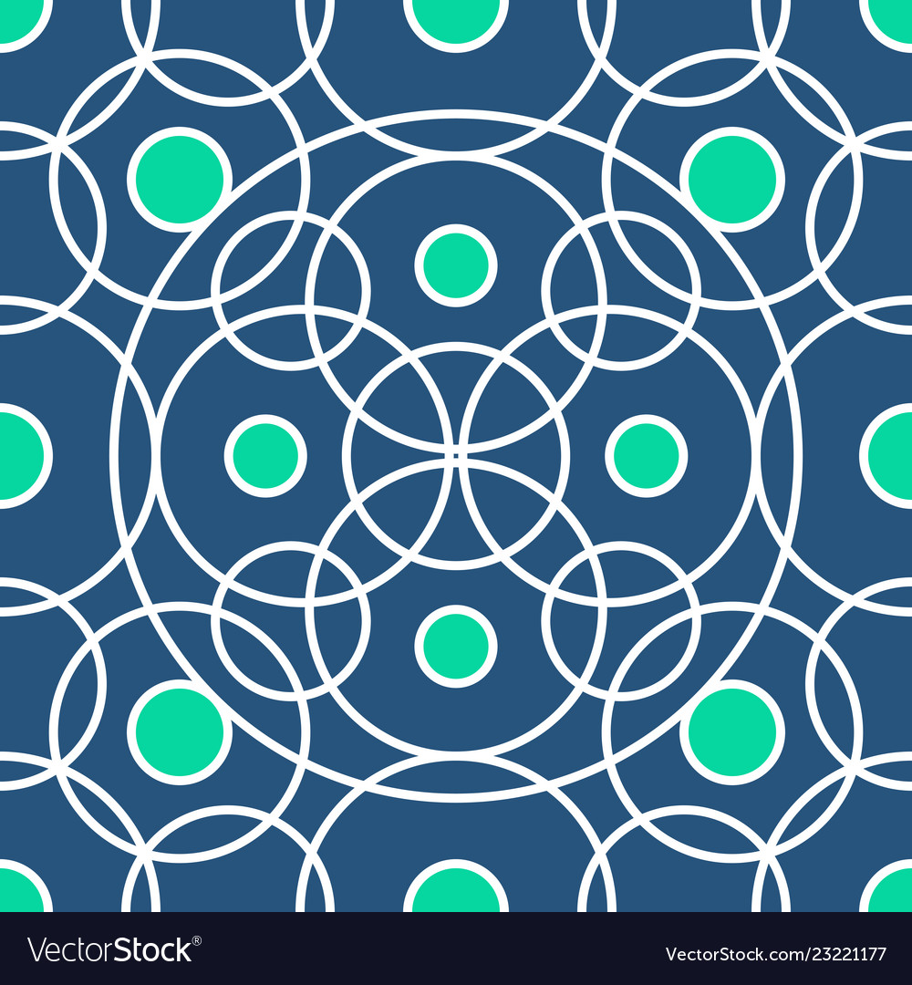 Circle pattern including seamless sample in vector