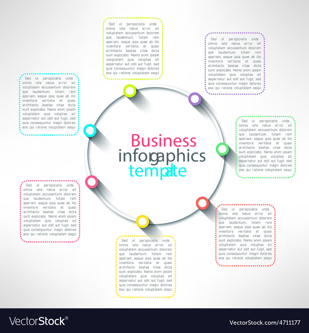 circle process infographics template royalty free vector