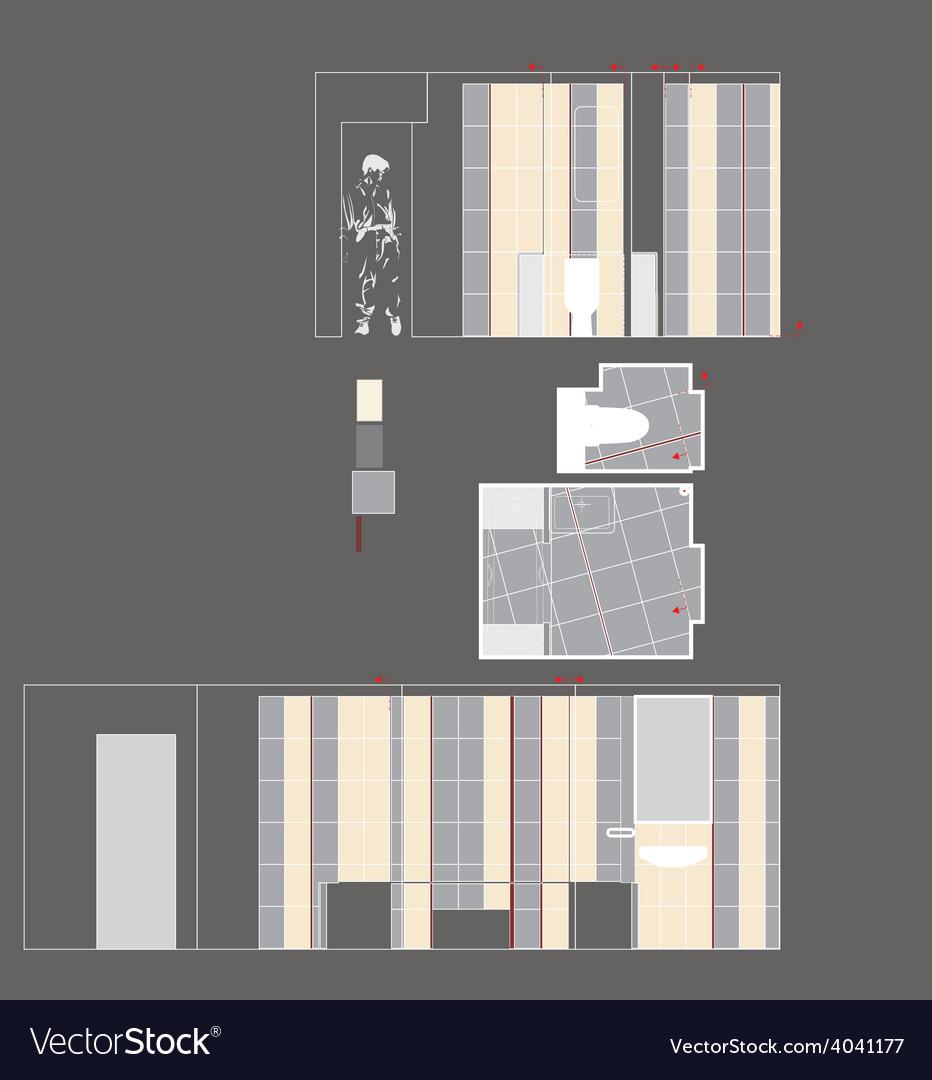 Drawing Room Walls vector image
