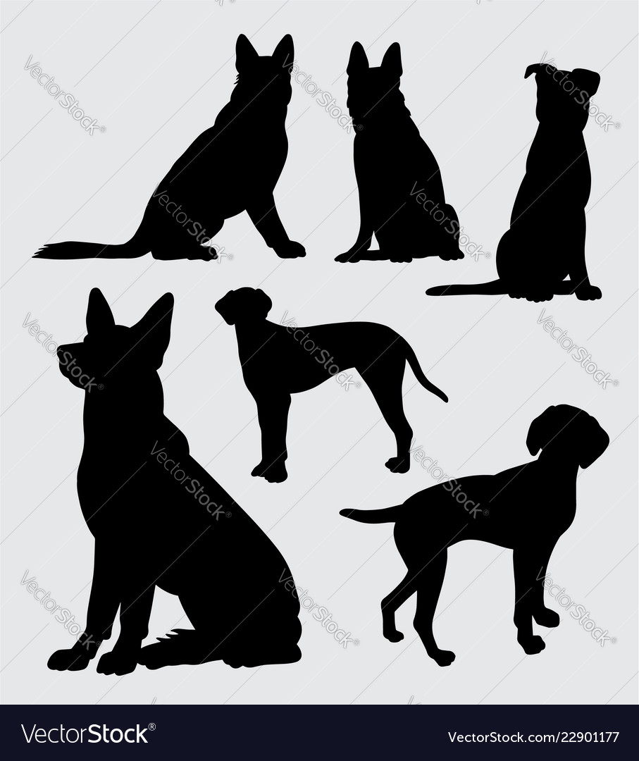 German Shepherd And Dalmatian Dog Silhouette Vector Image Find & download free graphic resources for german shepherd silhouette. vectorstock