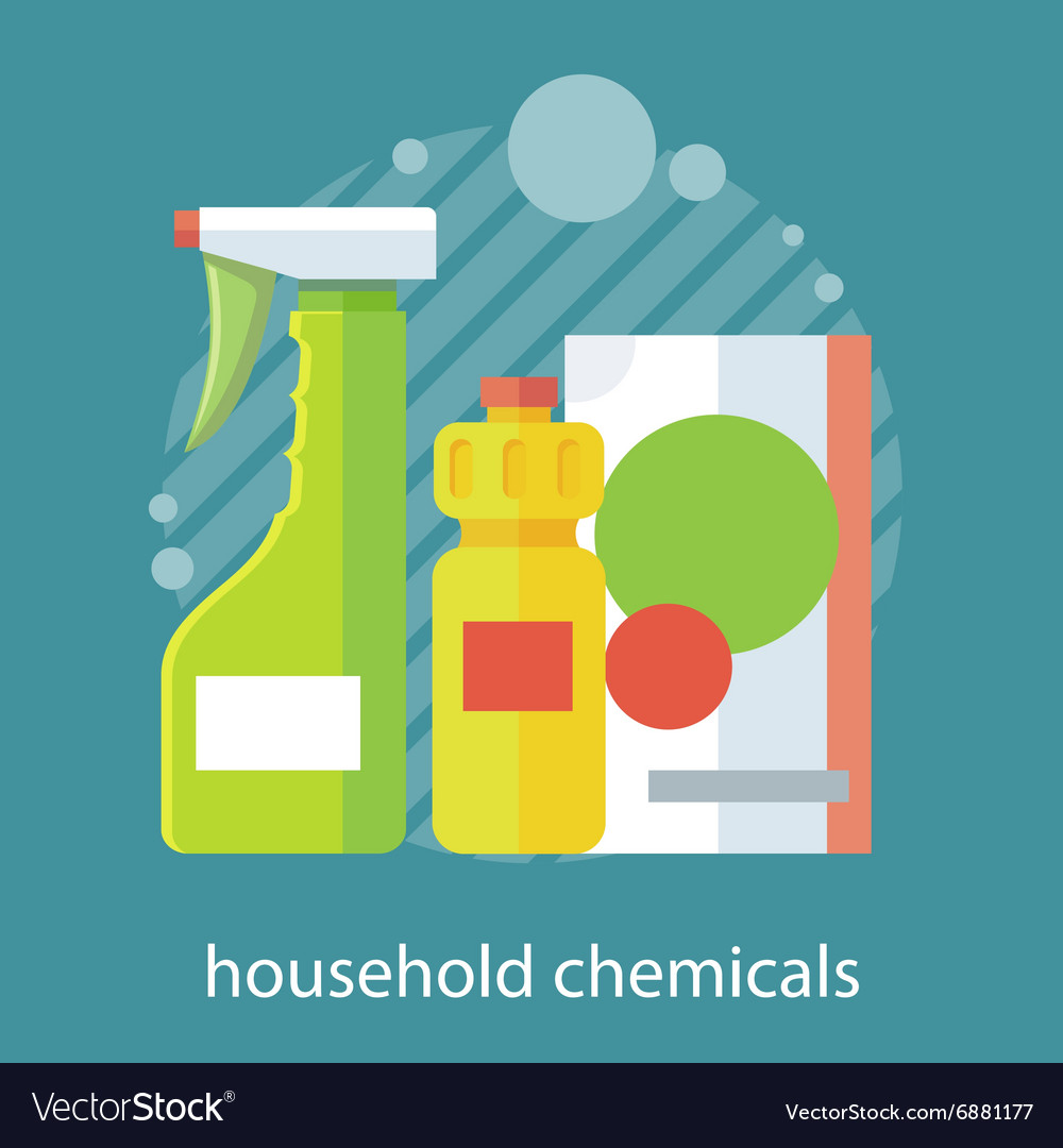 Household Chemical Flat Design