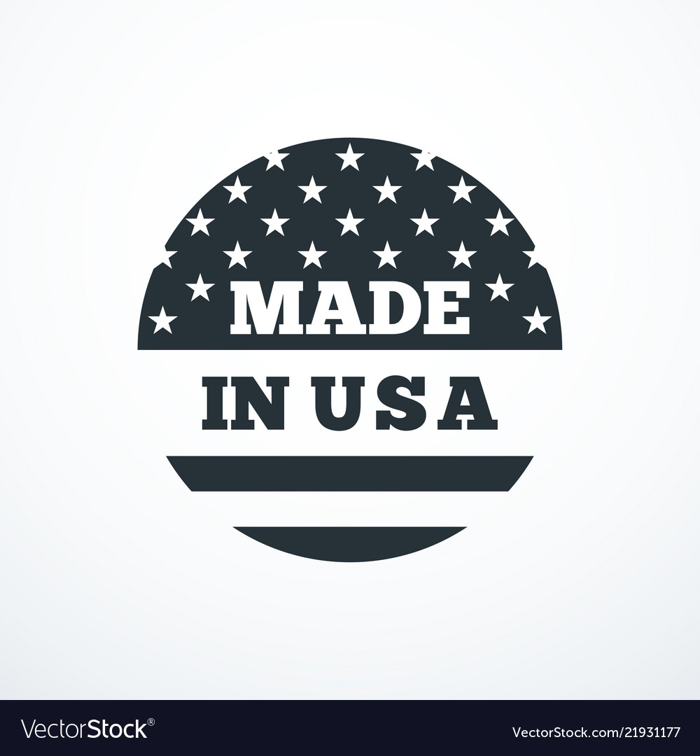 Made in usa badge with usa flag elements