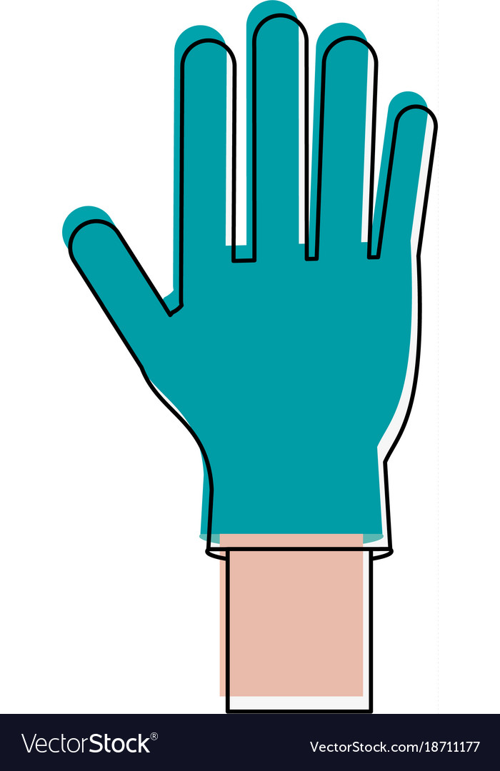 Medical Latex Glove Royalty Free Vector Image Vectorstock