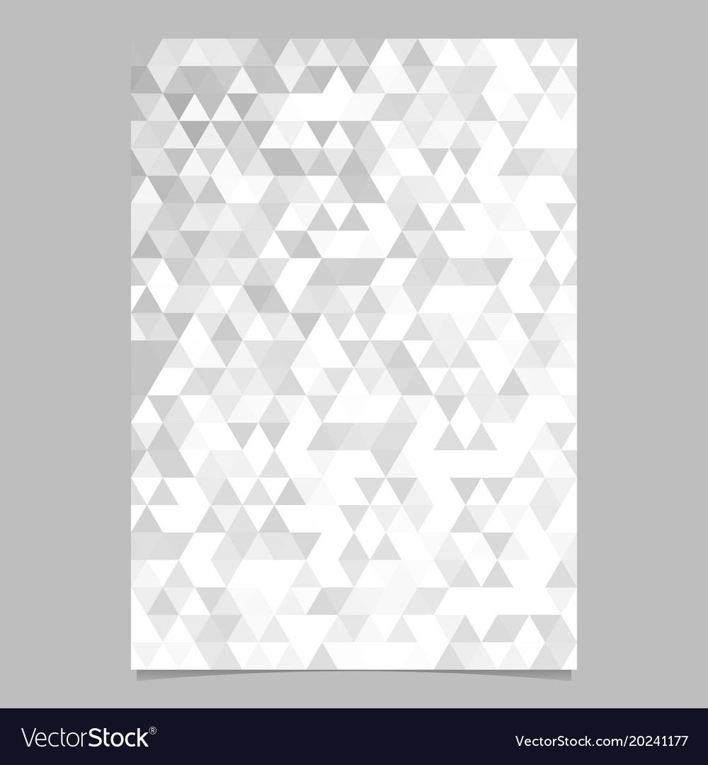 Monochrome abstract brochure template design