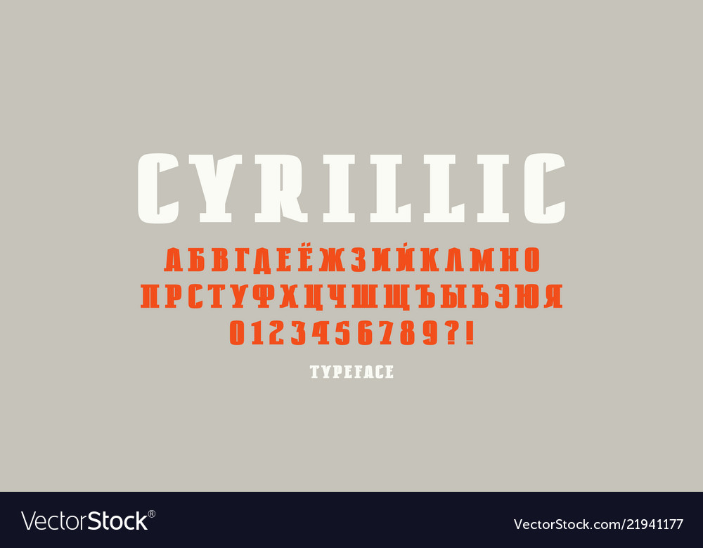 Original solid slab serif font