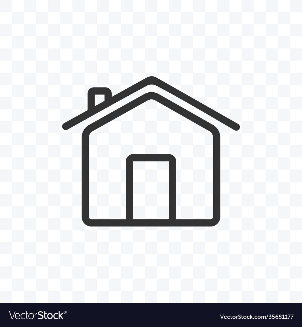 Outline home or house icon isolated