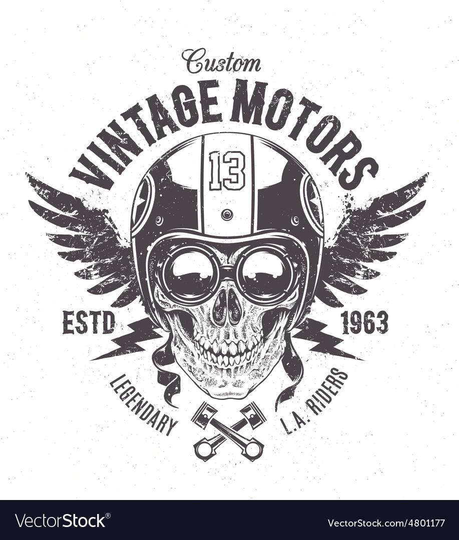 Rider Skull Print