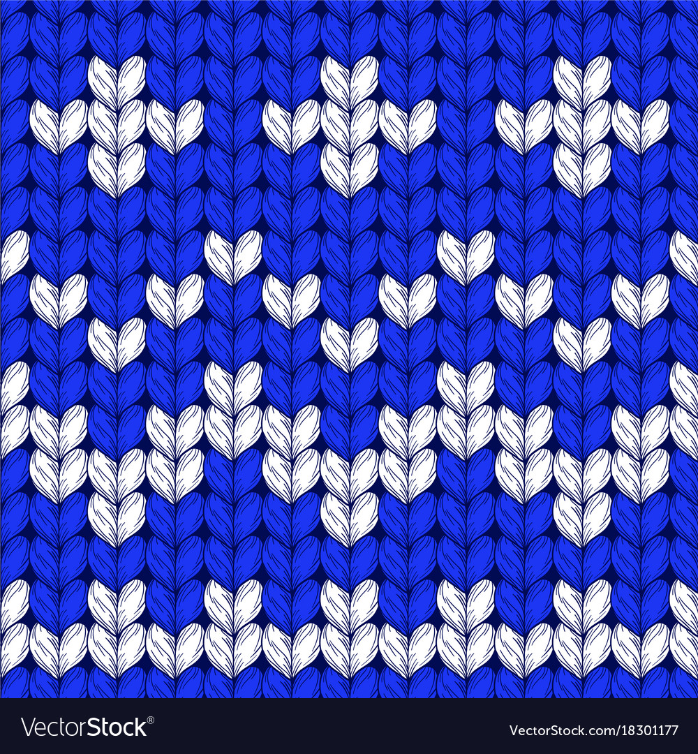 Seamless Christmas Knit Pattern Royalty Free Vector Image