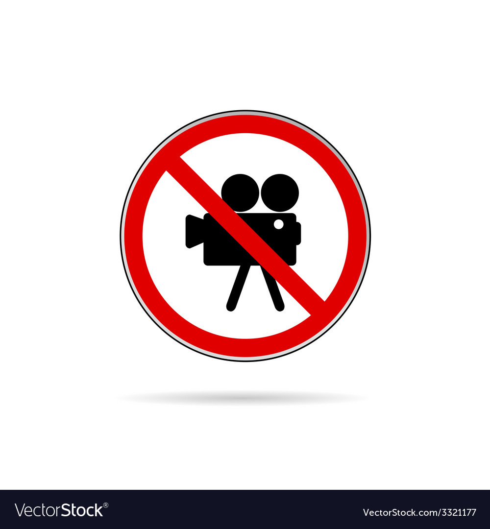 Sign for no camera color