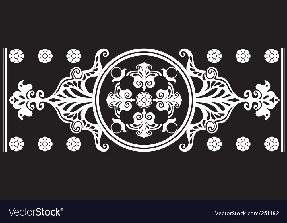 Art Nouveau ornament vector image