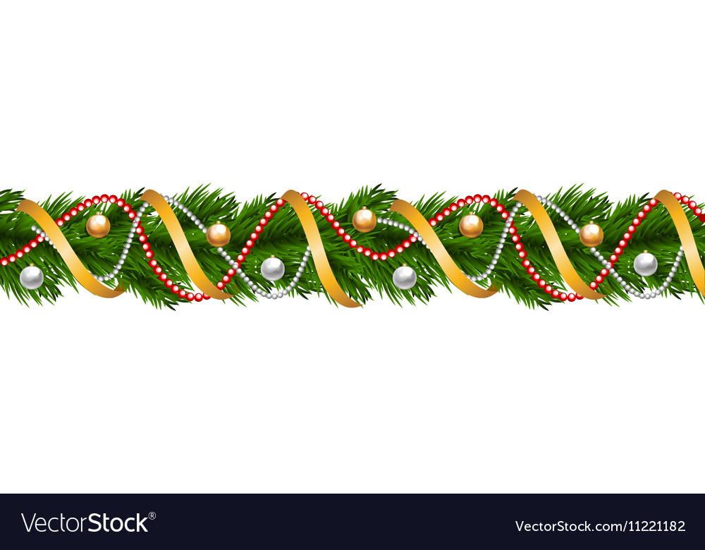 Christmas garland with baubles
