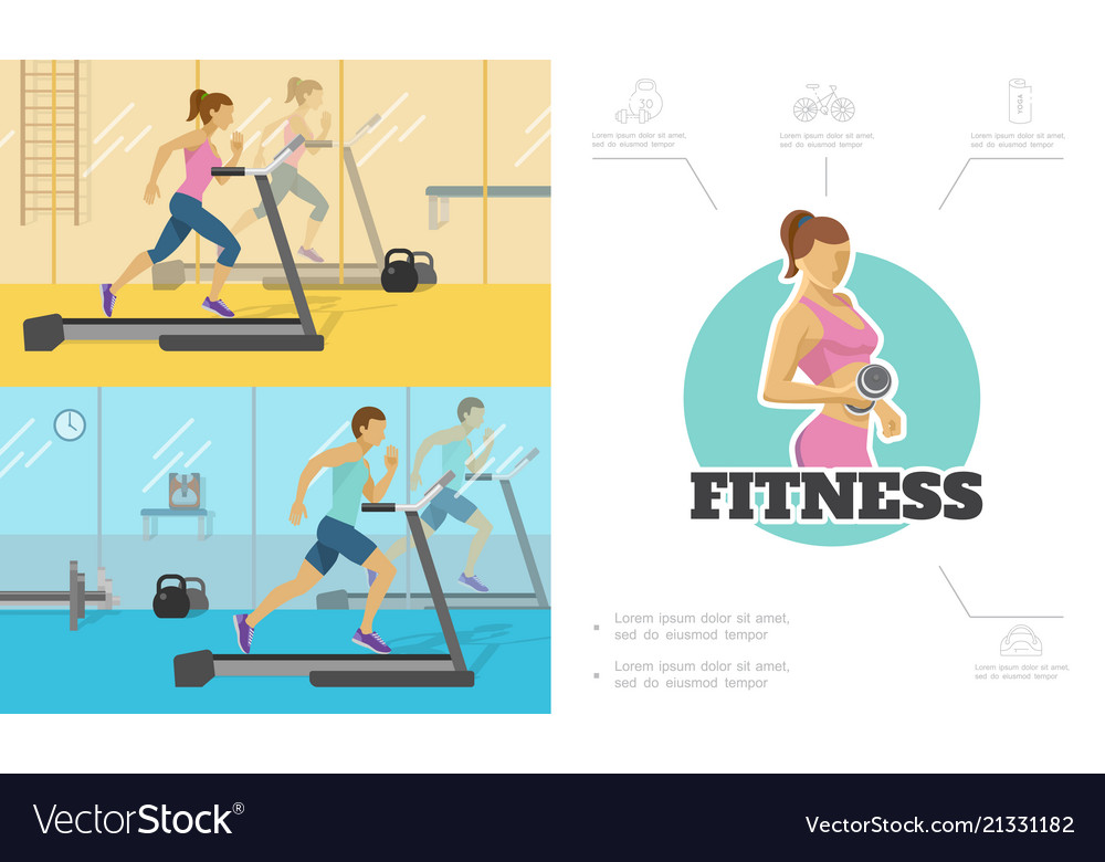 Flat fitness composition