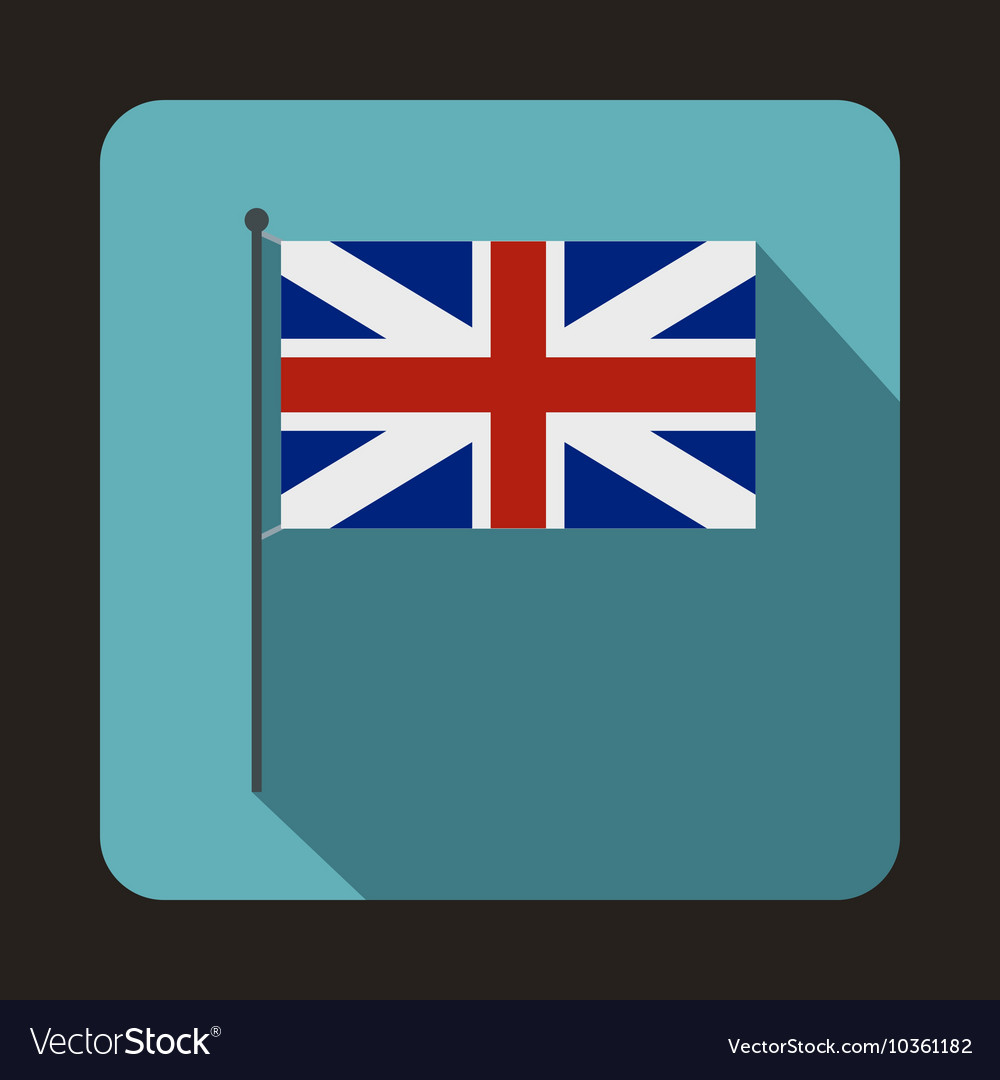 Great Britain flag icon flat style