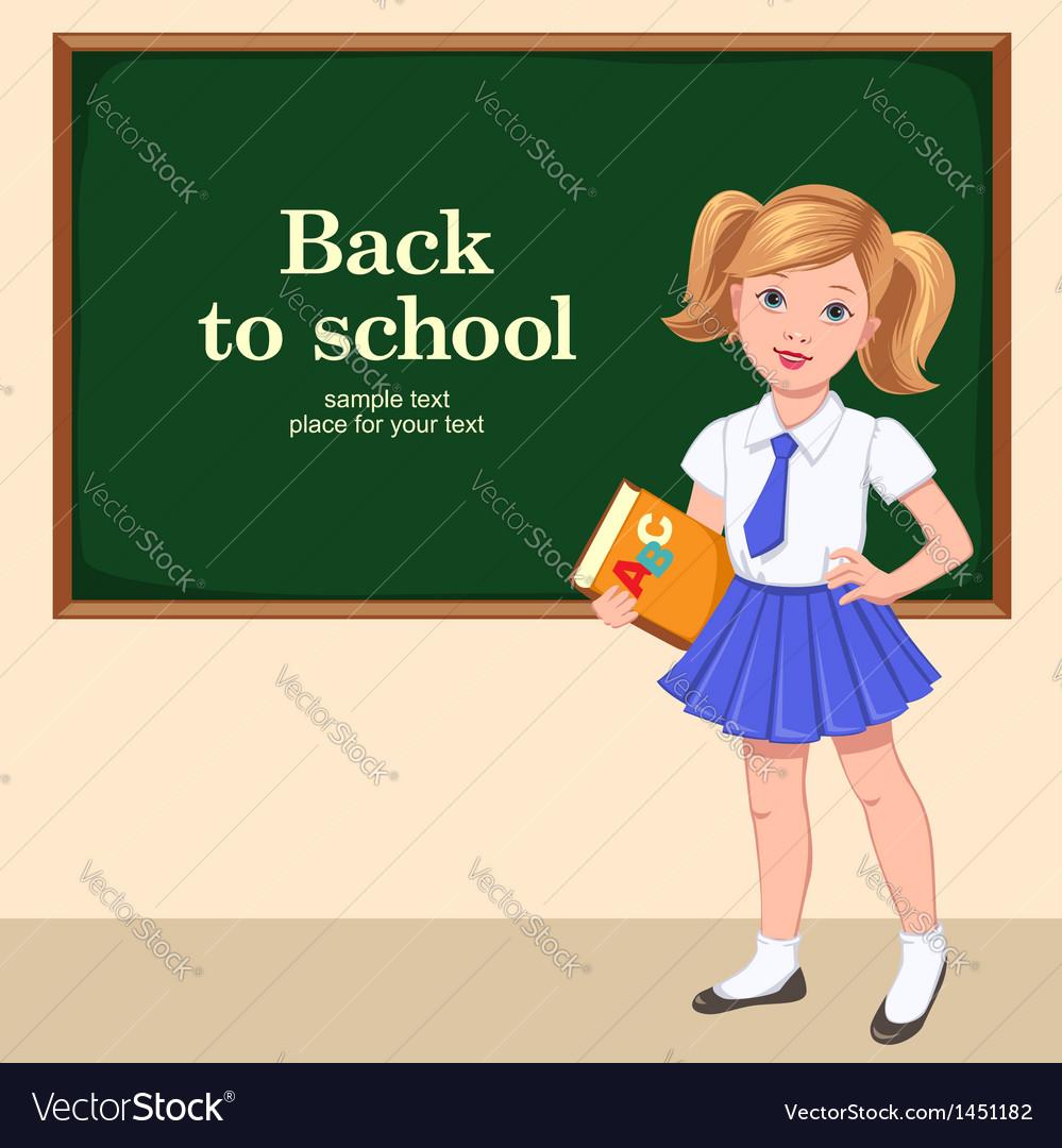 School girl desk