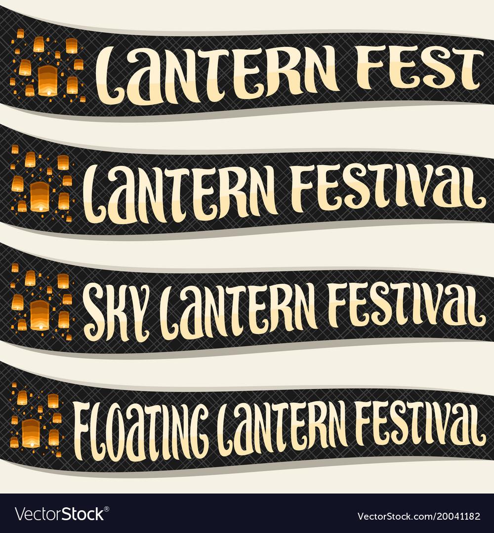 Set of ribbons for sky lantern festival