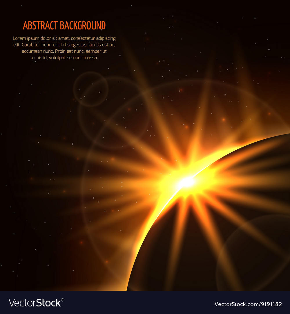 Sunrise space background vector image
