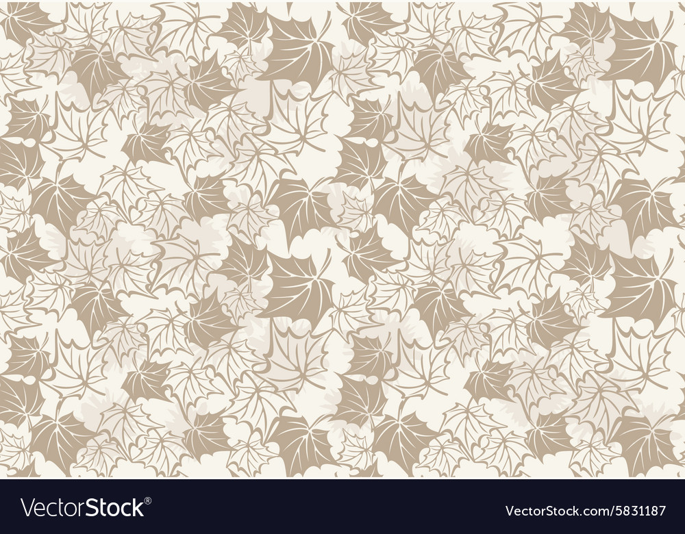 Autumn seamless pattern with leaves of maple