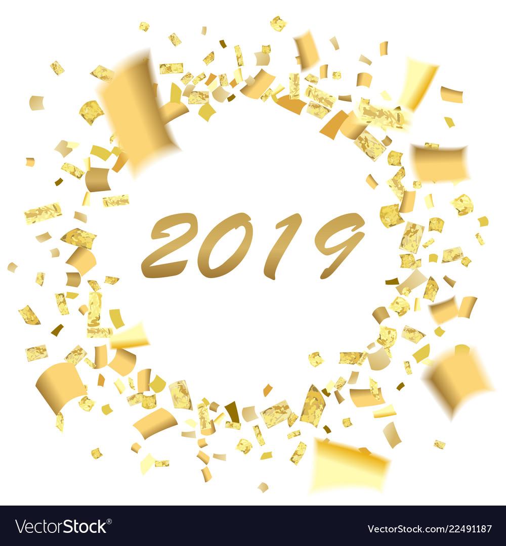 Confetti circle blur 2019