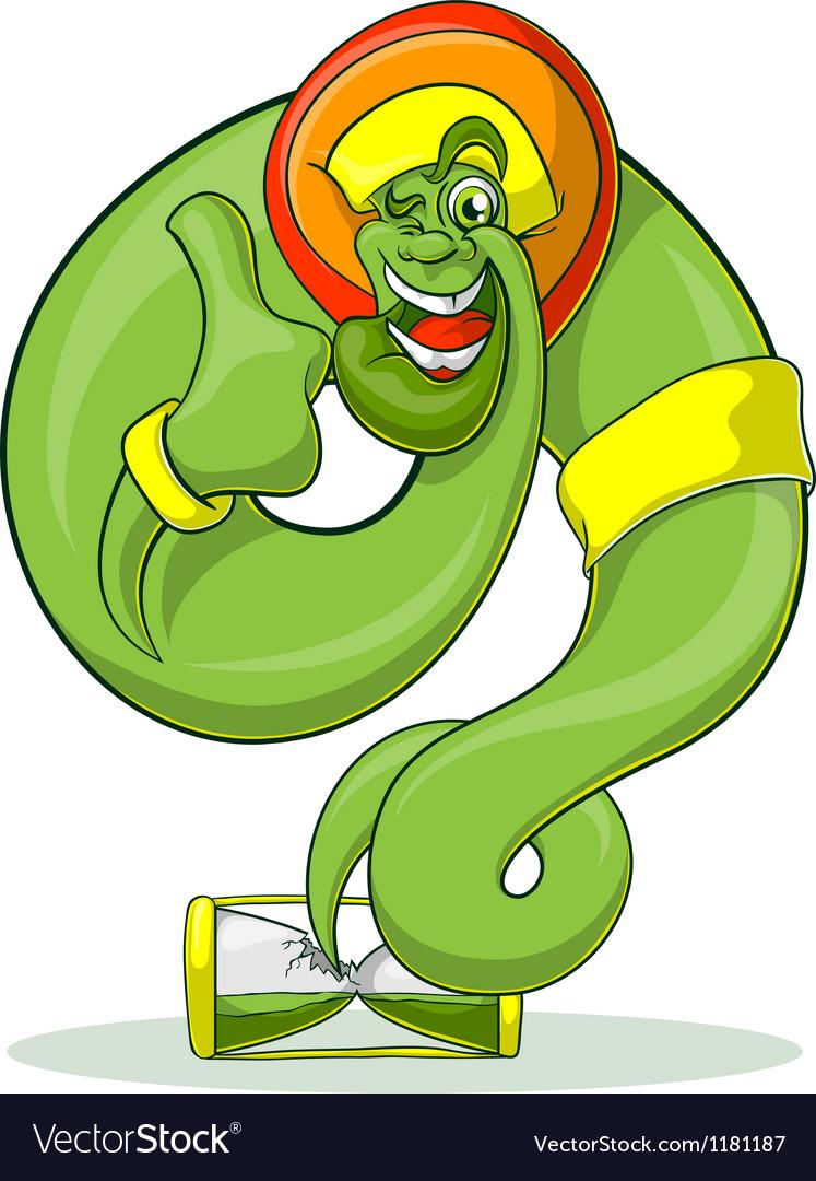 Green Genie Rastaman vector image