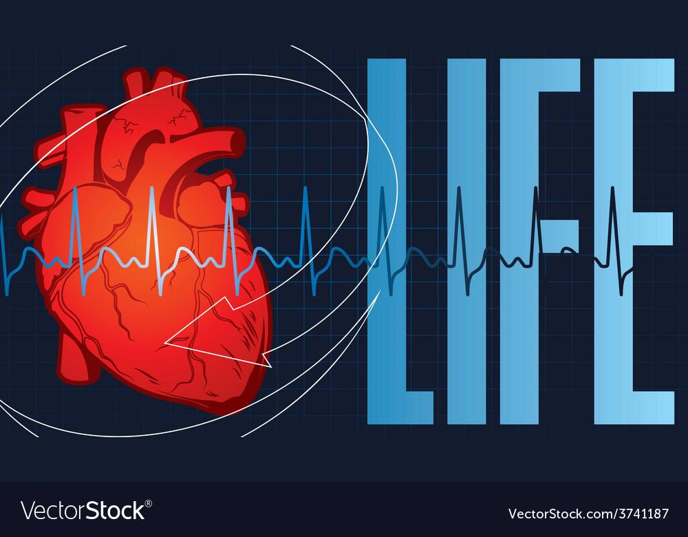 LIFE HART vector image
