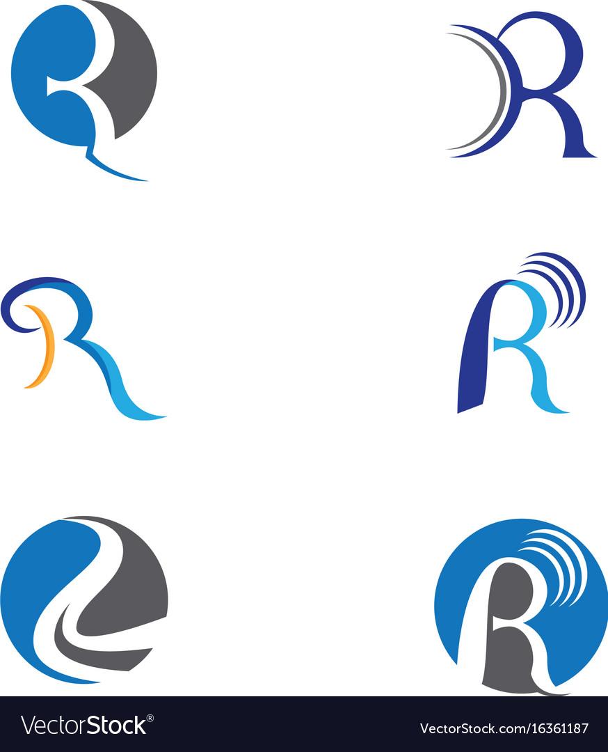 r letter logo template icon design vector image