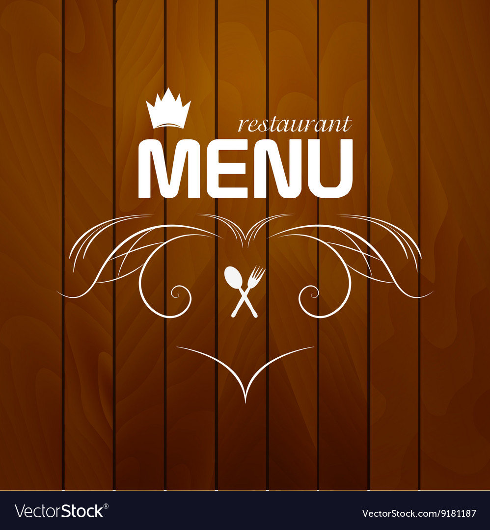 restaurant menu on wood background royalty free vector image