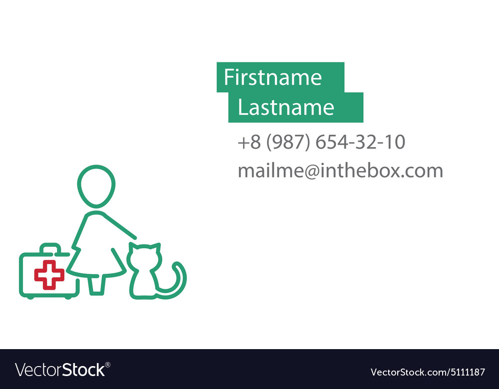 Veterinarian Business Card Vector Image