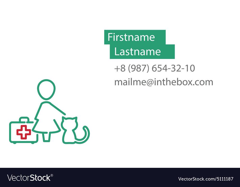 Veterinarian business card royalty free vector image veterinarian business card vector image colourmoves