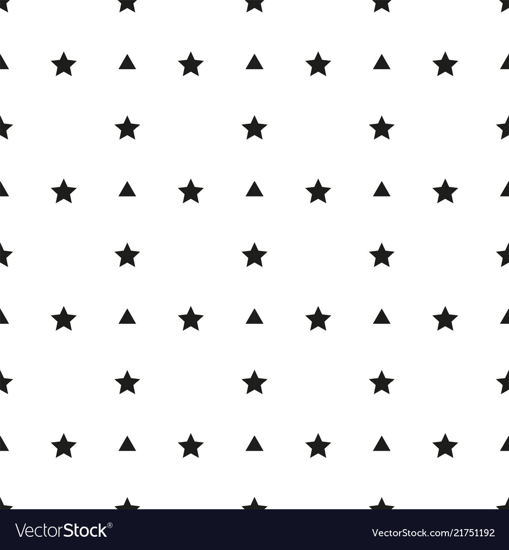 Abstract triangle star pattern white background ve