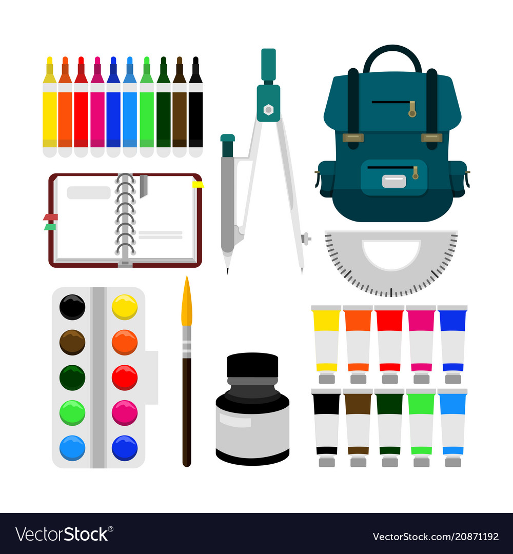 Back to school object equipment
