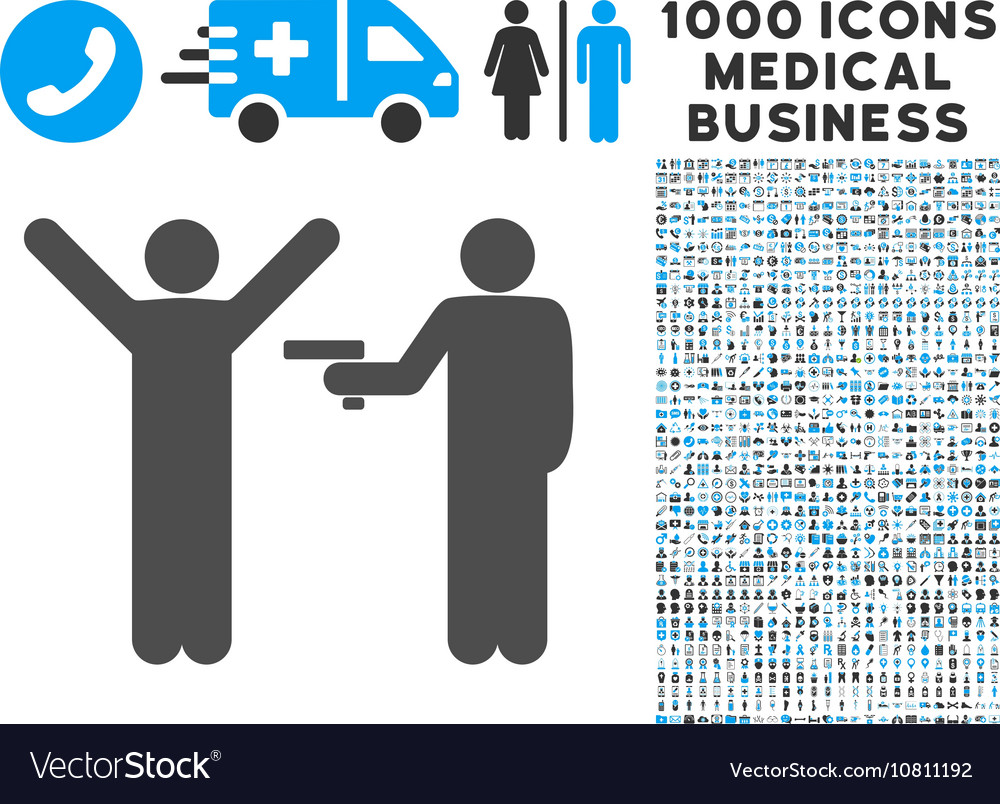 Crime Robbery Icon with 1000 Medical Business