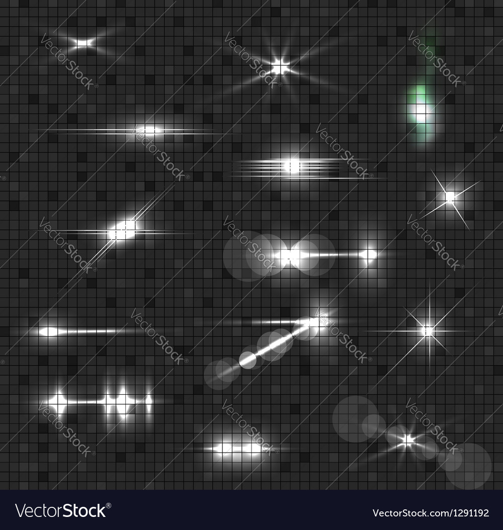 Glowing Light Collection vector image