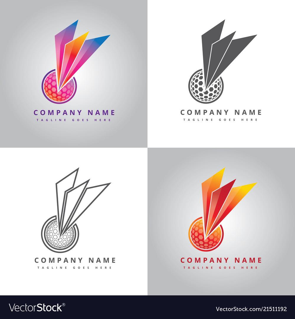 golf ball logo design inspiration royalty free vector image rh vectorstock com
