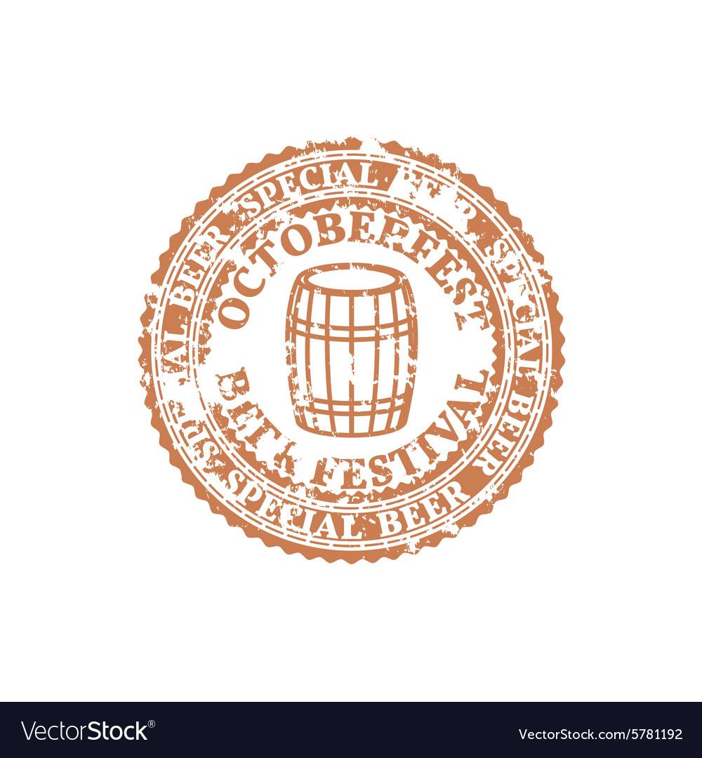 Grunge Emblem Oktoberfest