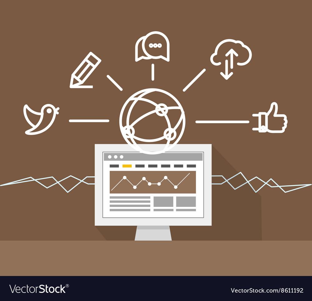 Modern technology business Social media concept