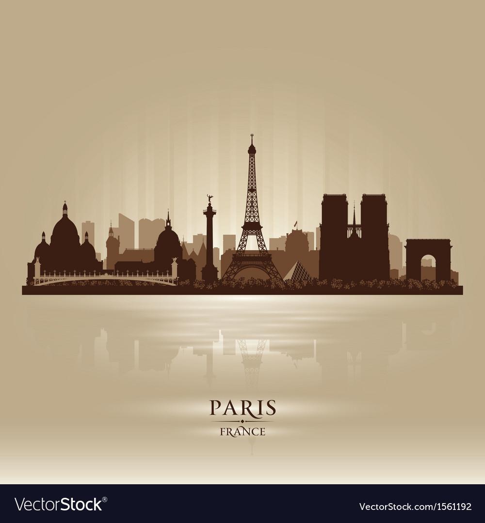 Paris france city skyline silhouette